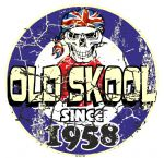 Distressed Aged OLD SKOOL SINCE 1958 Mod Target Dated Design Vinyl Car sticker decal  80x80mm